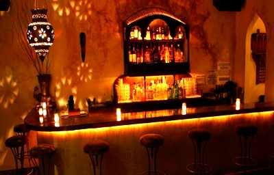 bar at Kush Lounge