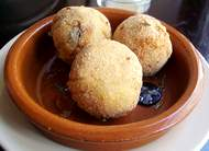 fried rice ball suppli